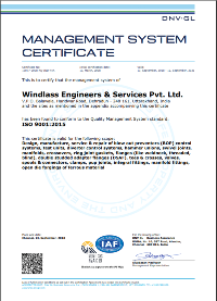 Windlass Engineers ISO 9001:2015