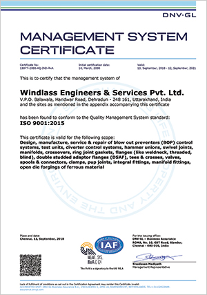 Certifications | Windlass Engineers